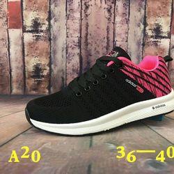 Giày thể thao nữ mới A20 hồng đen giá sỉ