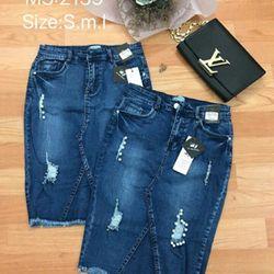 Váy jean 125k size SML 125k SA0706 giá sỉ