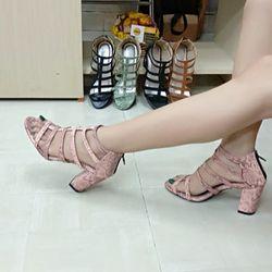 Sandal cao gót 6 dây giá sỉ