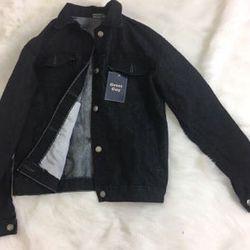 áo khoác jean đen có túi trong giá sỉ
