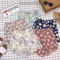 Quần váy hoa viền bèo Lưng thun co giãn free size giá sỉ