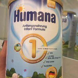 Sữa bột công thức Humana Gold số 1 hoặc 2 hoặc 3 cho bé từ sơ sinh đến 9 tuổi tuổi loại 800g giá sỉ