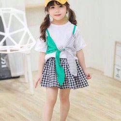 Set áo váy bé gái size ĐẠI 20 giá sỉ