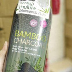 GEL TẮM CATHY DOLL BAMBOO CHARCOAL ANTI ACNE OIL CONTROL BODY BATH GEL