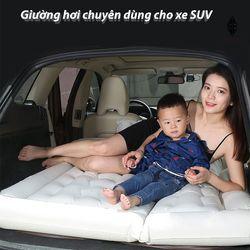 Giường đệm lớn nệm hơi thông minh xếp gọn du lịch cho ôtô xe hơi SUV Kèm bơm điện vòi đa năng sử dụng được trên xeINS011 giá sỉ