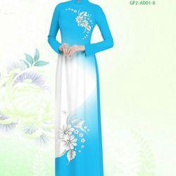 Vải áo dài thiết kế - AD-001-4 giá sỉ