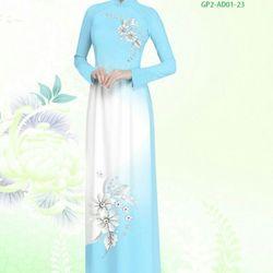 Vải áo dài thiết kế - AD-001-13 giá sỉ