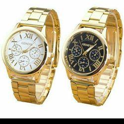 Đồng hồ kim loại mạ vàng giá sỉ