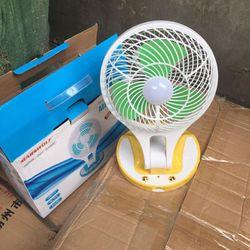 nz- Quạt sạc điện kèm đèn pin mini fan m 5580 giá sỉ