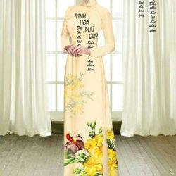 Vải áo dài thiết kế - 6-100-6 giá sỉ