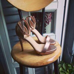 Sandal cao gót ánh đồng 11p độn đế giá sỉ