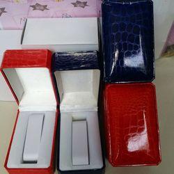 hộp đồng hồ da vân rắn 2 màu đỏ và xanh giá sỉ