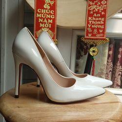 giày cao gót màu trắng cao 11p giá sỉ