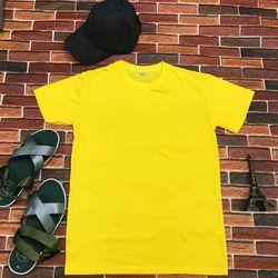 Áo thun in nhiệt màu vàng chanh giá sỉ
