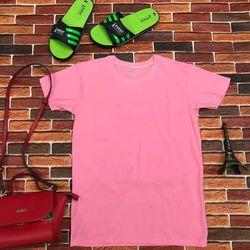 Áo thun in nhiệt màu hồng cánh sen giá sỉ