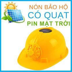 Nón Bảo Hộ Có Quạt Pin Mặt Trời - Nón Bảo Hộ Công Trình Có Quạt Gió giá sỉ