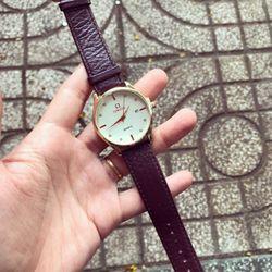 Đồng hồ dây da cặp giá sỉ