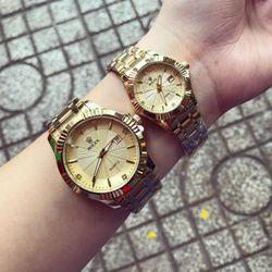 Đồng hồ kim loại cặp giá sỉ