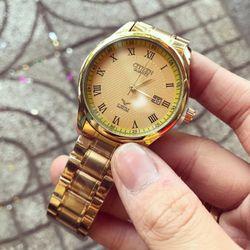 Đồng hồ nam kim loại xi vàng giá sỉ