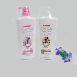 Sữa tắm TL Carebeau - Goat milk 600ml hồng trắng giá sỉ