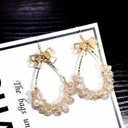 Bông tai nữ thời trang đá trong AB5939 giá sỉ