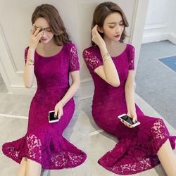 Sale Đồng Gía 139k Đầm Ren Đuôi Cá Ngắn Tay Candy giá sỉ