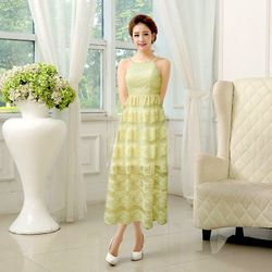 Sale Đồng Gía 139k Đầm ren vàng kem maxi Dawn - TP1633 giá sỉ