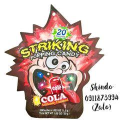 Kẹo nổ Striking Popping Candy 30g - Vị cola giá sỉ