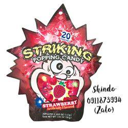 Kẹo nổ Striking Popping Candy 30g - Vị dâu giá sỉ