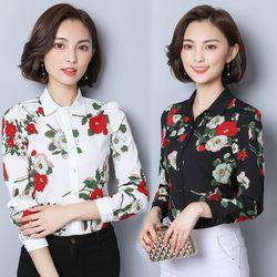 CTKM sale DG 89k - Áo Sơ Mi Hàn Quốc Hoa Rosa giá sỉ