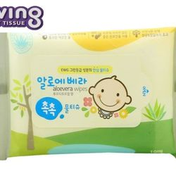 khăn giấy ướt Hàn Quốc Living Aloe Vera Chok Chok - loại 10 tờ/gói giá sỉ