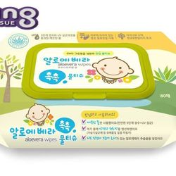 Khăn giấy ướt Hàn Quốc Living Aloe Vera Chok Chok - loại 80 tờ/gói giá sỉ