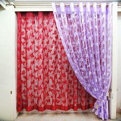 Rèm Cửa Hình Bướm Sang Trọng đỏ hồng đậm hồng nhạt xanh dương kem tím giá sỉ, giá bán buôn