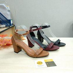 Giày sandal cao gót 5cm bảng ngang da mờ giá sỉ