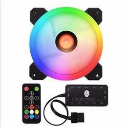 Bộ Fan case LED 12cm RGB kèm Hub 10 cổng điều khiển Quạt tản nhiệt có Remote giá sỉ