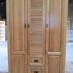 Tủ áo gỗ sồi lá sách 3 cánh 2 hộc kéo R140xS60xC210cm giá sỉ