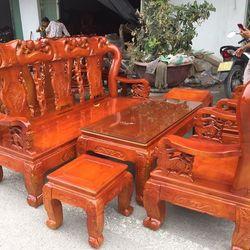 Bàn ghế phòng khách quốc đào gỗ xoan giá sỉ