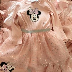Váy Micky hồng 3D nổi