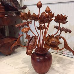 Bình sen gỗ hương giá sỉ