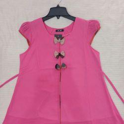 áo bầu 3 nơ hồng giá sỉ