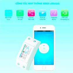 Công tắc WiFi thông minh kết hợp RF eWeLink ER10 giá sỉ
