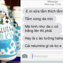 Sữa tắm Milky Gluta tặng kèm sữa rửa mặt giá sỉ