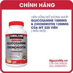 Viên uống bổ khớp Kirkland Glucosamine Chondroitin Mỹ 220 viên