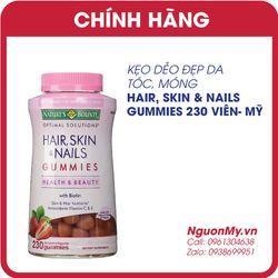 Kẹo dẻo đẹp da tóc móng Hair Skin Nails Gummies 230 viên của Mỹ