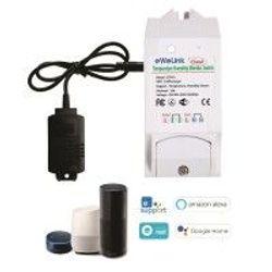 Công tắc WiFi thông minh kết hợp đầu dò độ ẩm nhiệt độ mua kèm eWeLink ETH16 giá sỉ