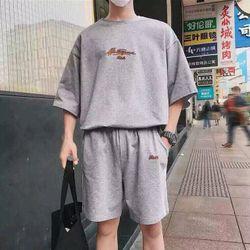 đồ bộ xám nam fom rộng giá sỉ