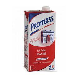 Sữa không đường tiệt trùng nguyên kem Promess thùng 12 hộp 1 l giá sỉ