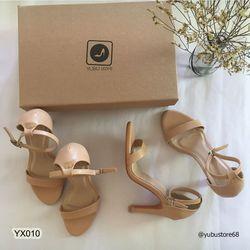 Giày sandal cao gót quai ngang 9cm giá sỉ