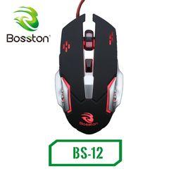 chuột game dây bosston BS12 led giá sỉ