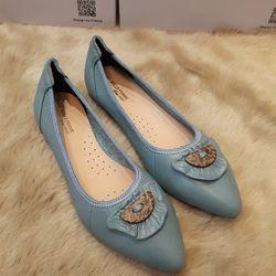 giày búp bê phú nhuận mũi nhọn khóa gỗ giá sỉ